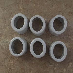 6 cloth napkin holders